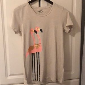 Adorable J Crew Flamingo Collectors Tee